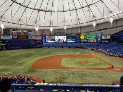 Tropicana Field, sección: 211, fila: C, asiento: 18