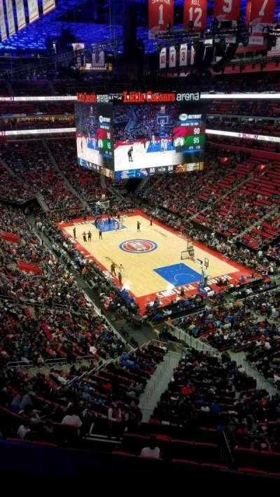 Little Caesars Arena, sección: 222, fila: 1, asiento: 1