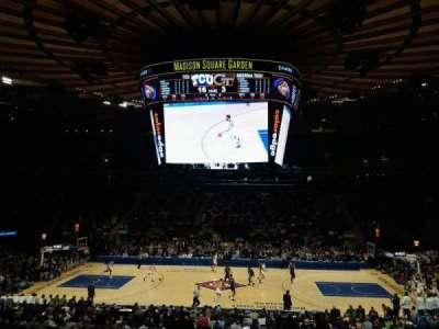 Madison Square Garden, sección: 107, fila: 20, asiento: 16