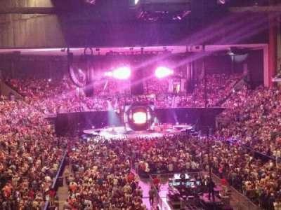 Jacksonville Veterans Memorial Arena, sección: 109, fila: CC, asiento: 3
