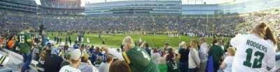 Lambeau Field, sección: 115, fila: 10, asiento: 7