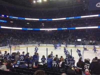 Amalie Arena, sección: 117, fila: K, asiento: 3