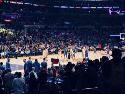 Staples Center, sección: 103, fila: 11, asiento: 7