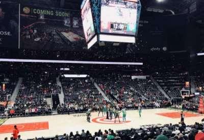Philips Arena, sección: 116, fila: M, asiento: 7