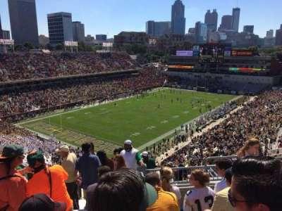 Bobby Dodd Stadium, sección: 210, fila: 17, asiento: 14