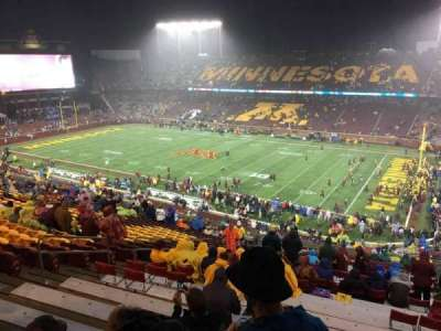 TCF Bank Stadium, sección: 226, fila: 25, asiento: 15