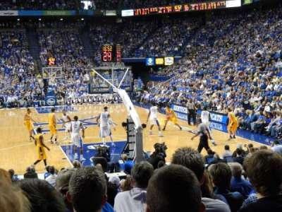 Rupp Arena, sección: 23, fila: OO, asiento: 7
