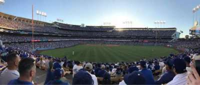 Dodger Stadium, sección: 308PL, fila: P, asiento: 1