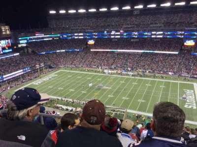 Gillette Stadium, sección: 306, fila: 16, asiento: 23