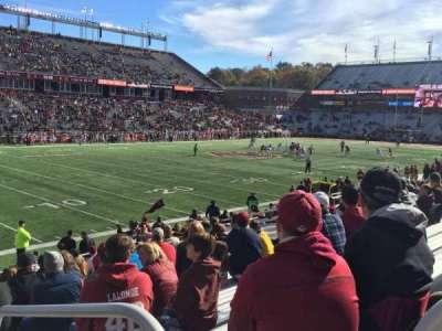 Alumni Stadium, sección: A, fila: 21, asiento: 3