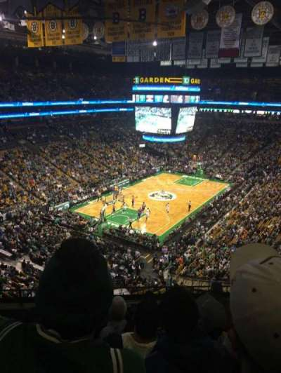 TD Garden, sección: 321, fila: 6, asiento: 5
