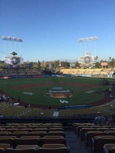 Dodger Stadium, sección: 102LG, fila: K, asiento: 1