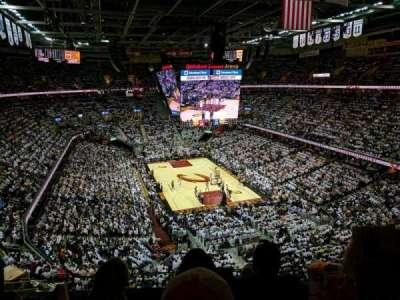 Quicken Loans Arena, sección: 232, fila: 3, asiento: 11