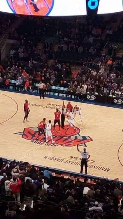 Madison Square Garden, sección: 213, fila: 14, asiento: 12