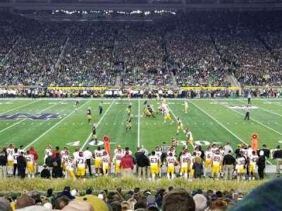 Notre Dame Stadium, sección: 9, fila: 27, asiento: 14