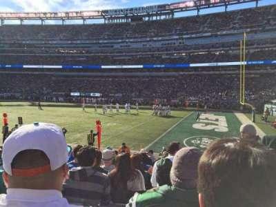 MetLife Stadium, sección: 109, fila: 11, asiento: 2