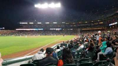 AT&T Park, sección: 130, fila: 10, asiento: 7