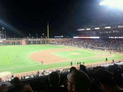 AT&T Park, sección: 225, fila: D, asiento: 16