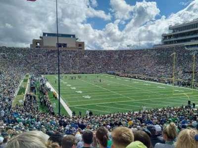 Notre Dame Stadium, sección: 3, fila: 40, asiento: 9