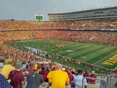 TCF Bank Stadium, sección: 205, fila: 11, asiento: 2