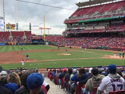 Great American Ball Park, sección: 115, fila: FF, asiento: 1