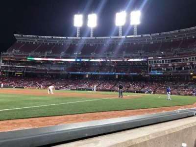 Great American Ball Park, sección: 112, fila: A, asiento: 15