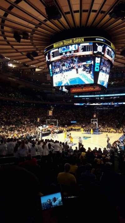 Madison Square Garden, sección: 103, fila: 7, asiento: 14