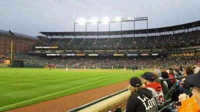 Oriole Park at Camden Yards, sección: 68, fila: 2, asiento: 7