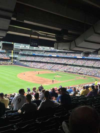 Miller Park, sección: 229, fila: 21, asiento: 15