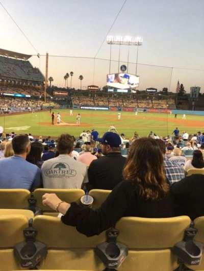 Dodger Stadium, sección: 8FD, fila: M, asiento: 9