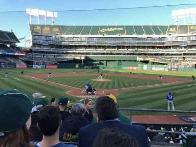 Oakland Alameda Coliseum, sección: 117, fila: 17, asiento: 1