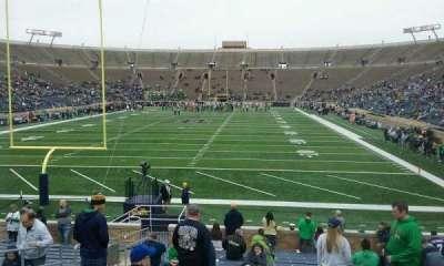 Notre Dame Stadium, sección: 18, fila: 25, asiento: 14