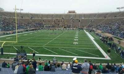 Notre Dame Stadium, sección: 18, fila: 30, asiento: 5