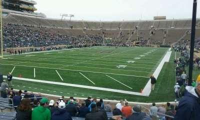 Notre Dame Stadium, sección: 17, fila: 23, asiento: 2
