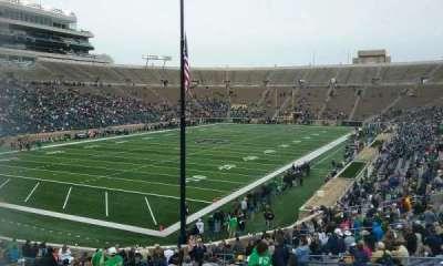 Notre Dame Stadium, sección: 16, fila: 40, asiento: 15