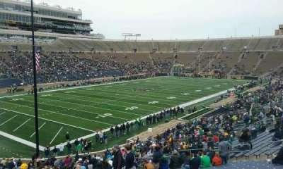 Notre Dame Stadium, sección: 15, fila: 49, asiento: 23