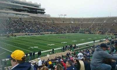 Notre Dame Stadium, sección: 14, fila: 32, asiento: 24