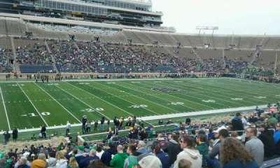 Notre Dame Stadium, sección: 13, fila: 41, asiento: 17