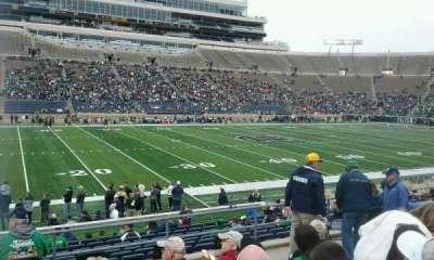 Notre Dame Stadium, sección: 12, fila: 24, asiento: 20