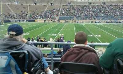 Notre Dame Stadium, sección: 12, fila: 18, asiento: 1