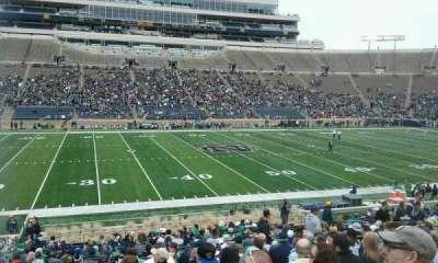 Notre Dame Stadium, sección: 11, fila: 33, asiento: 24