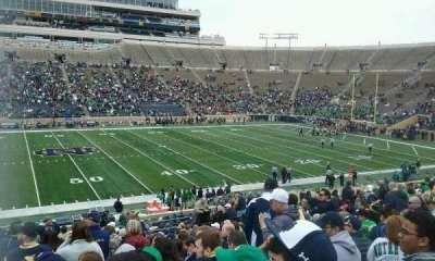 Notre Dame Stadium, sección: 11, fila: 38, asiento: 26