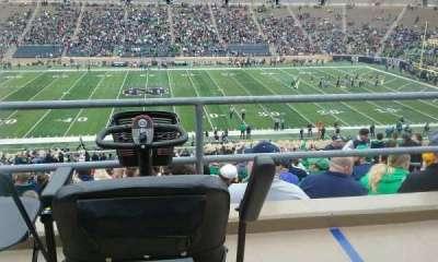 Notre Dame Stadium, sección: 10, fila: 58, asiento: 6