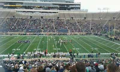 Notre Dame Stadium, sección: 9, fila: 54, asiento: 13
