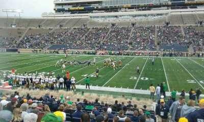 Notre Dame Stadium, sección: 9, fila: 26, asiento: 26