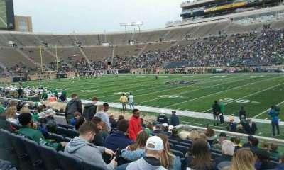 Notre Dame Stadium, sección: 8, fila: 18, asiento: 8