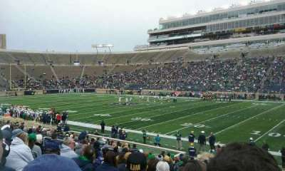 Notre Dame Stadium, sección: 7, fila: 24, asiento: 8