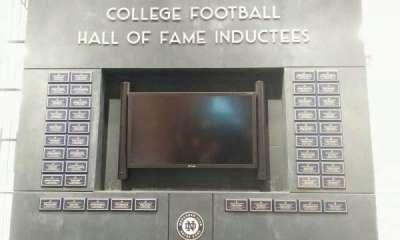 Notre Dame Stadium, sección: hall of fame
