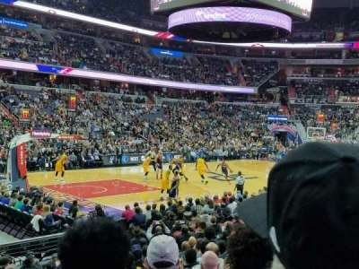 Verizon Center, sección: 109, fila: N, asiento: 1