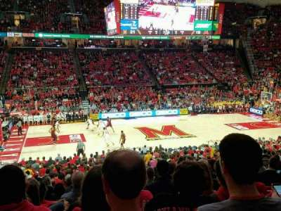 Xfinity Center (Maryland), sección: 113, fila: 15, asiento: 10
